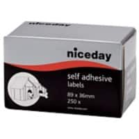 Niceday Address Labels White 36 x 89 mm 250 labels per pack