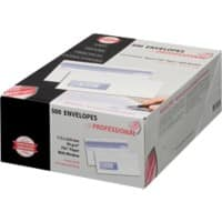 PROFESSIONAL Envelopes DL 110 x 220 mm 90 g/m² White Window 500 Pieces