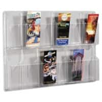 helit Display Unit Wall Mounted 12 x 1/3 A4 Clear