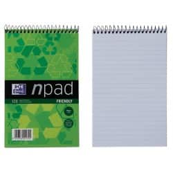 Oxford npad Recycled Soft Cover Wirebound Notebook - B6+ Ruled Margin