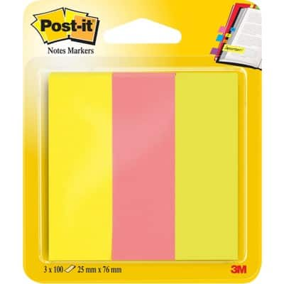 Post-it® Note Markers 25 x 76 mm 3 pads