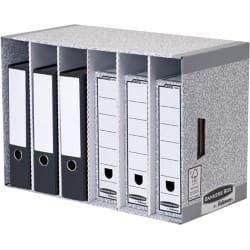 Fellowes Storage Box System Grey cardboard 38 x 58 x 29 cm