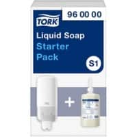 Tork S1 Starterpack Soap Dispenser and Refill White