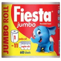 Fiesta Kitchen Roll 2 ply 600 sheets