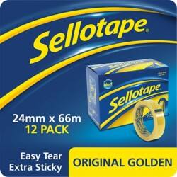 Sellotape Tape 1443268 24 mm x 66 m Transparent 12 Rolls