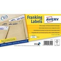 Avery FL04 Franking Labels Self Adhesive 140 x 38 mm White 1000 Sheets of 1 Label 1000 Sheets of 1 Label