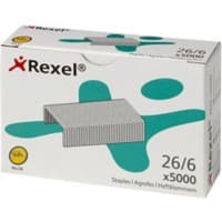 Rexel Standard Staples No. 56-6mm 26/6 5000 Pieces