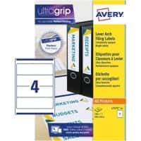 Avery Lever Arch Filing Labels L7171-25 White 100 pieces