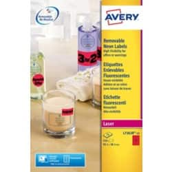 Avery Labels L7263R-25 Red 350 labels per pack