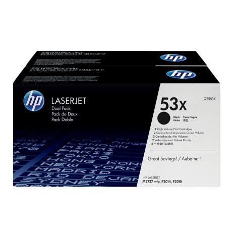 HP 53X Original Toner Cartridge Q7553XD Black 2 pieces