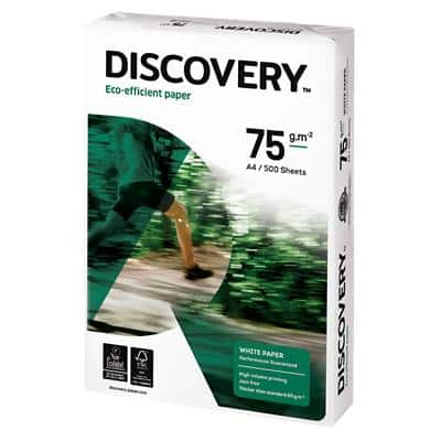 Discovery Eco-Efficient Paper A4 75gsm White 500 Sheets