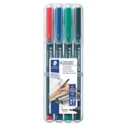 Staedtler Lumocolor OHP and CD Pens Permanent Fine Assorted Pack Of 4