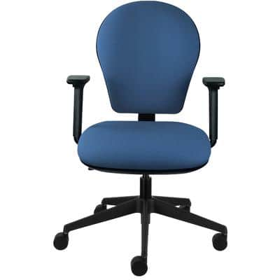 Energi-24 Basic Tilt Ergonomic Office Chair with Adjustable Armrest and Seat Posture Task Blue