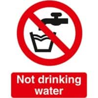 Prohibition Sign Not Drinkable PVC 15 x 20 cm