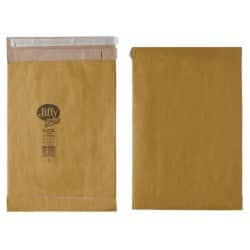 Jiffy Padded Envelopes 90gsm Brown plain peel and seal 100 pieces