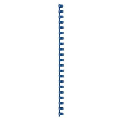 GBC Combbind A4 Plastic Binding Comb Blue 21 Ring 95 Sheet Capacity 12 mm 100 Per Pack