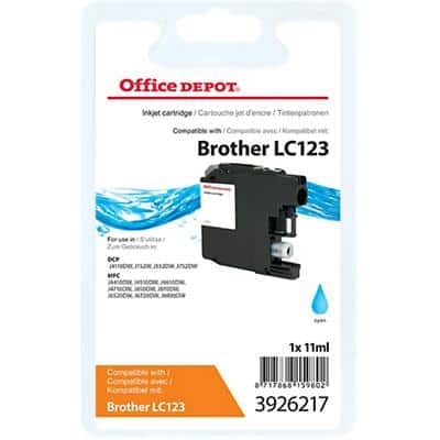 Office Depot Compatible Brother LC123C Ink Cartridge Cyan