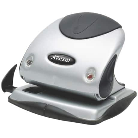 Rexel Hole Punch P225 Silver, Black 25 sheets