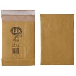 Jiffy Padded Envelopes 90gsm Brown plain peel and seal 200 pieces