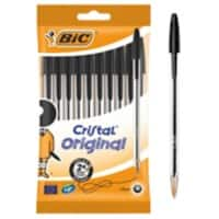 BIC Cristal Original Ballpoint Pen Medium 0.4 mm Black Pack of 10