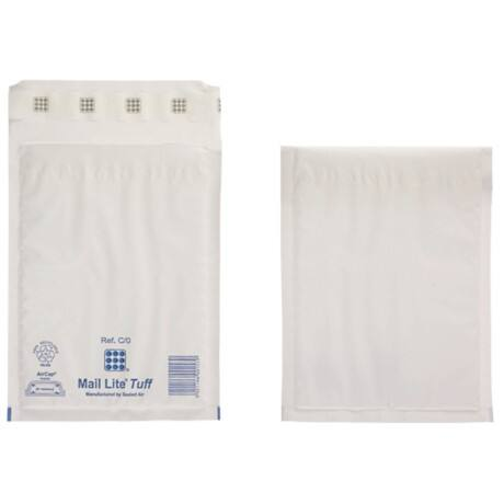 Sealed Air Mailing Bags c/0 79gsm White plain peel and seal 100 pieces