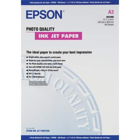 Epson Inkjet Photo Paper, White, A3, 105gsm