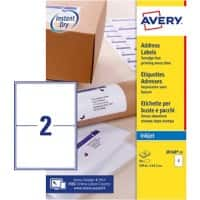 Avery J8168-100 Parcel Labels Self Adhesive 199.6 x 143.5 mm White 100 Sheets of 2 Labels