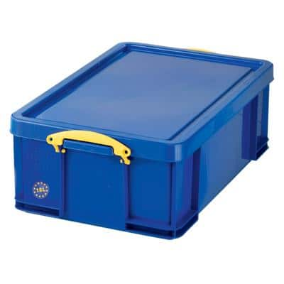 Really Useful Box Plastic Storage 18 Litre Blue 480 x 390 x 200 mm