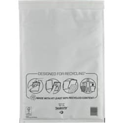 Sealed Air Mailing Bags j/6 110gsm White plain peel and seal 50 pieces