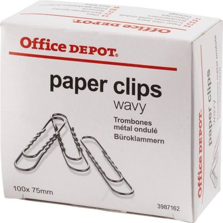 Office Depot Paper Clips Giant Wavy 75 mm 100 Per Box