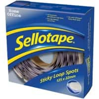 Sellotape Sticky Loop Spots Permanent Transparent Pack of 125