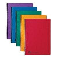 Europa A5 Wirebound Assorted Cardboard Cover Notebook Ruled 120 Pages Pack of 10