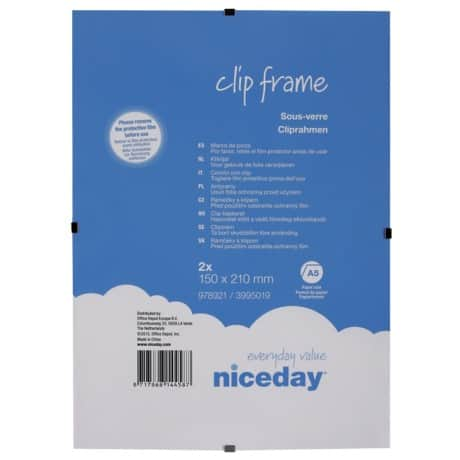 Niceday Clip Frame 210 H X 150 W mm 2 Per Pack