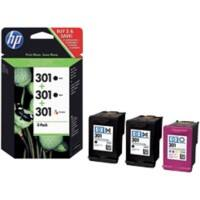 HP 301 Original Ink Cartridge E5Y87EE Black & 3 Colours 3 Pieces