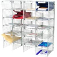 Val-U-Mail Letter Sorting Unit Silver 106.7 x 106.7 x 38.1 cm
