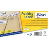 Avery FL10 Franking Labels Self Adhesive 40 x 175 mm White 500 Sheets of 1 Label 500 Sheets of 1 Label