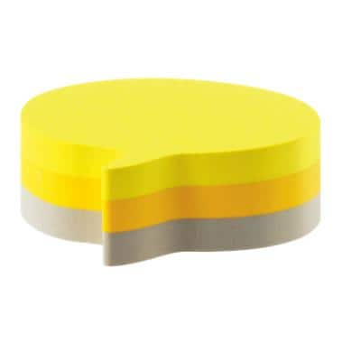 Post-it Sticky Notes Cube 70 x 70 mm Speech Bubble Assorted Colours 225 Sheets