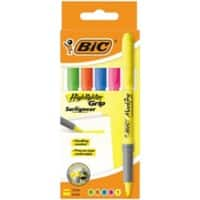 BIC Highlighter Brite Liner Grip 1.6 mm Assorted 5 Pieces