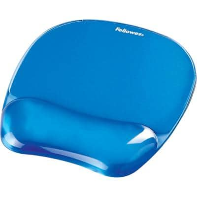 Fellowes Crystal Gel Mouse Pad Blue