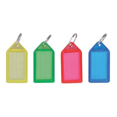 Office Depot Key Tags Assorted 5.4 x 2.7 cm 50 Pieces