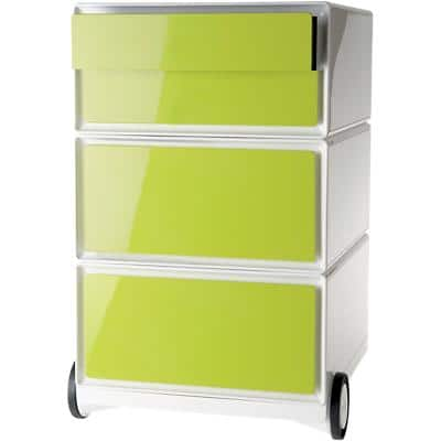 Paperflow Mobile Pedestal Easybox Green With 2 Pen Case Drawers And 2 Drawers 390 x 436 x 642 mm