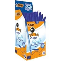BIC Cristal Soft Ballpoint Pen Medium 0.4 mm Blue Pack of 50