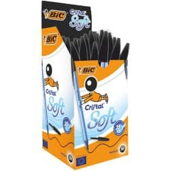 Bic Cristal Soft Ballpoint Black - Box of 50