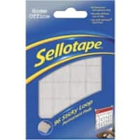Sellotape Sticky Loop Pads Permanent White Pack of 96