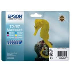 Epson T0487 Original Ink Cartridge C13T04874010 Black & 5 Colours 6 pieces