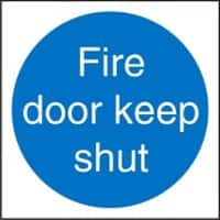 Fire Door Keep Shut Sign 10 x 10 cm PVC