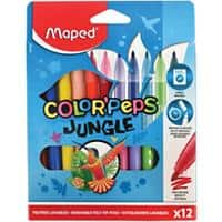 Maped Felt Tip Pens 845420 Assorted Pack of 12