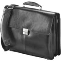 Falcon Leather Laptop Briefcase