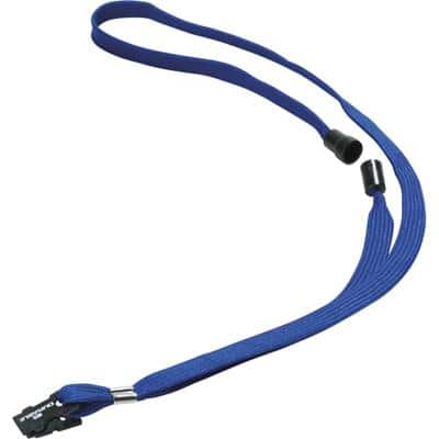 DURABLE Lanyard 440 x 10mm Blue 811907 10 Pieces
