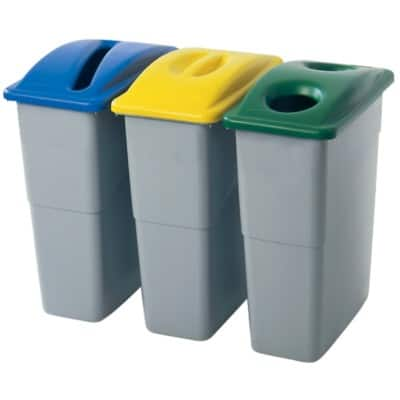 Rubbermaid Lid For Slim Jim Paper Yellow